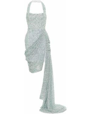 Платье мини с пайетками с завышенной талией Halpern