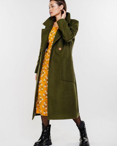 Кашемировое пальто - хаки Arjen