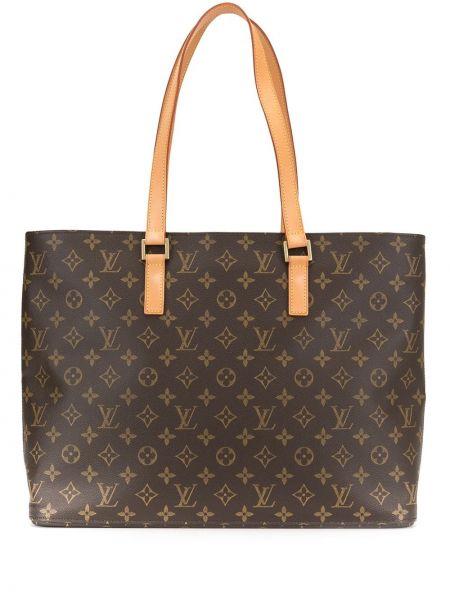 Skórzana torebka włosy wielbłąda z łatami Louis Vuitton Pre-owned
