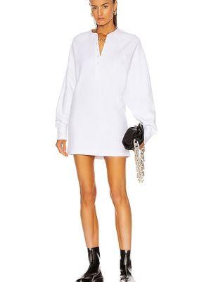 Хлопковое белое платье с декольте Marissa Webb