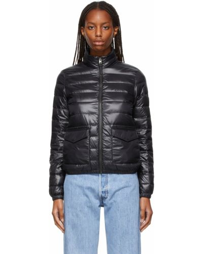 Кожаная куртка длинная - черная Mackage