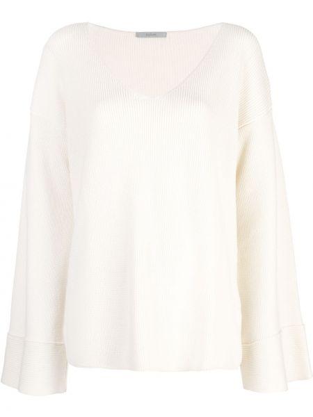 Biały z kaszmiru sweter z długimi rękawami Dusan