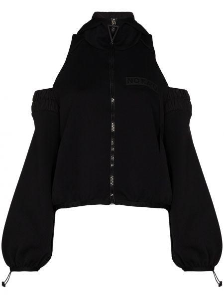 Черная куртка с вырезом No Ka 'oi