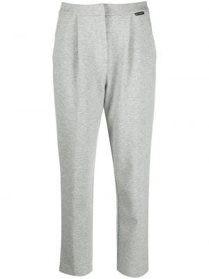 Трикотажные серые брюки на пуговицах Karl Lagerfeld