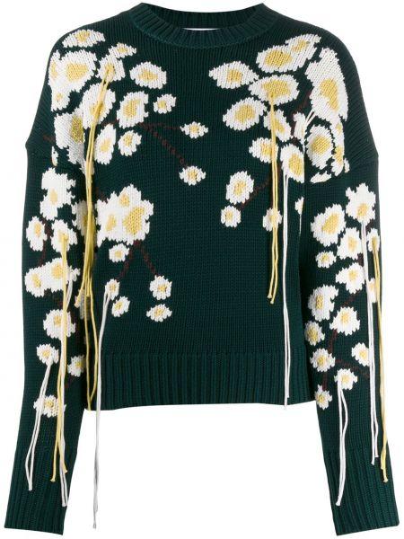 Sweter bawełniany - zielony Enfold