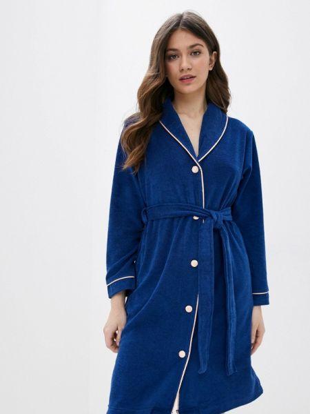 Синий домашний халат Luisa Moretti
