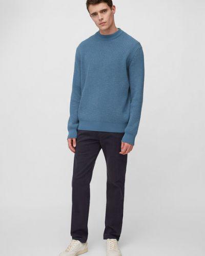 Klasyczny niebieski sweter dzianinowy Marc O Polo