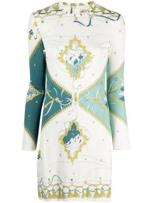 Белое платье с вырезом Emilio Pucci
