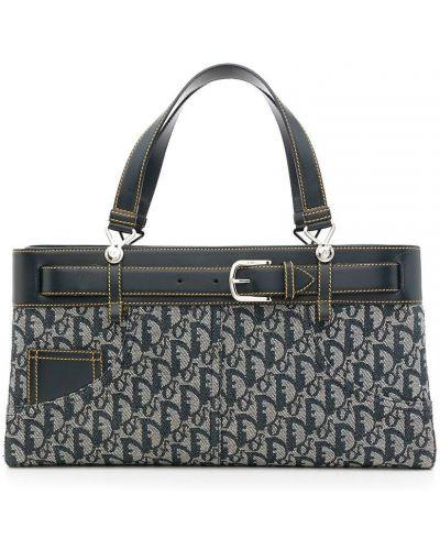 Niebieska torebka skórzana Christian Dior