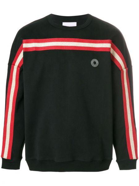 Czarny sweter w paski bawełniany Drole De Monsieur