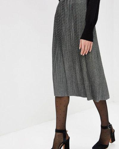 Плиссированная юбка серая Modis