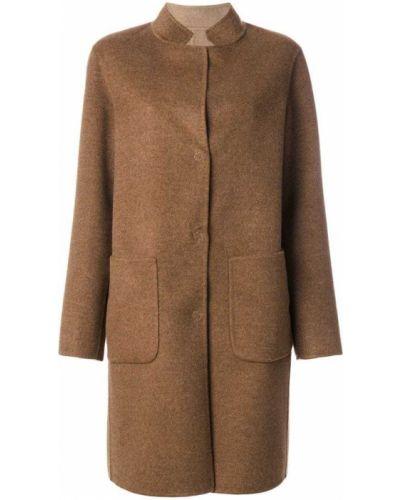 Однобортное шерстяное пальто с капюшоном Manzoni 24