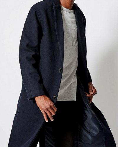 Пальто - синее Burton Menswear London