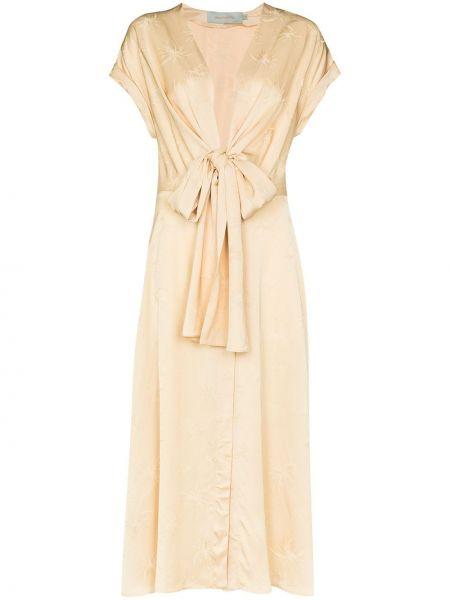 Платье миди с V-образным вырезом из вискозы Silvia Tcherassi