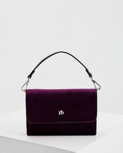 Бархатная фиолетовая сумка с ручками Roccobarocco