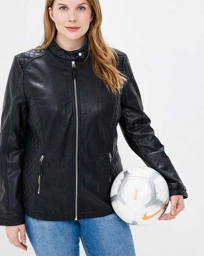 Кожаная куртка весенняя черная Rosa Thea
