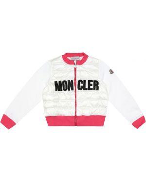 Biały kardigan bawełniany Moncler Enfant