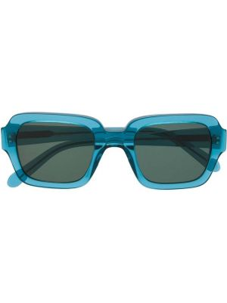 Муслиновые солнцезащитные очки квадратные хаки Han Kjøbenhavn