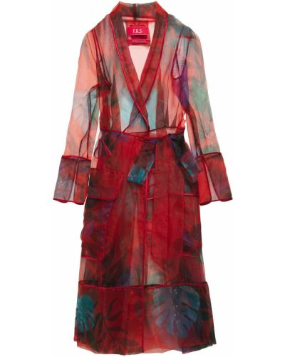 Satynowa sukienka midi kopertowa F.r.s For Restless Sleepers
