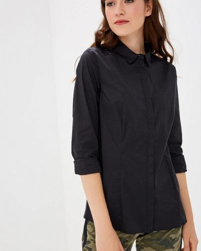 Черная рубашка с длинным рукавом S.oliver