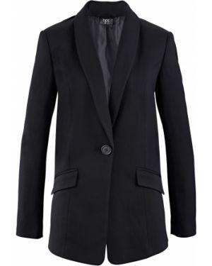 Классический пиджак черный джинсовый Bonprix