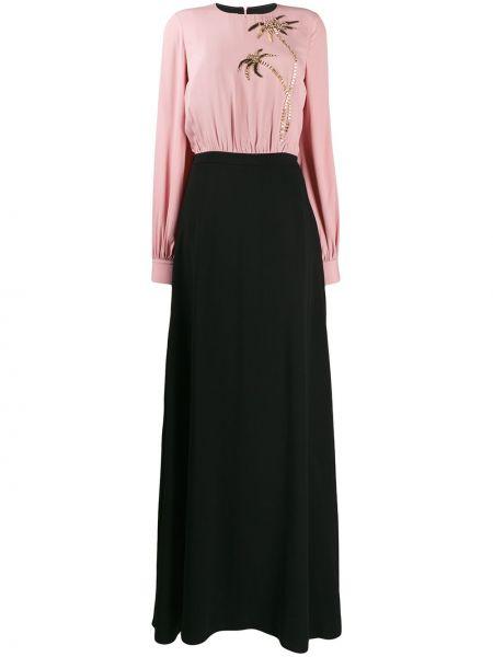 Шелковый розовый топ свободного кроя с круглым вырезом Stella Jean