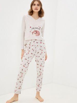 Пижамная бежевая пижама Nymos