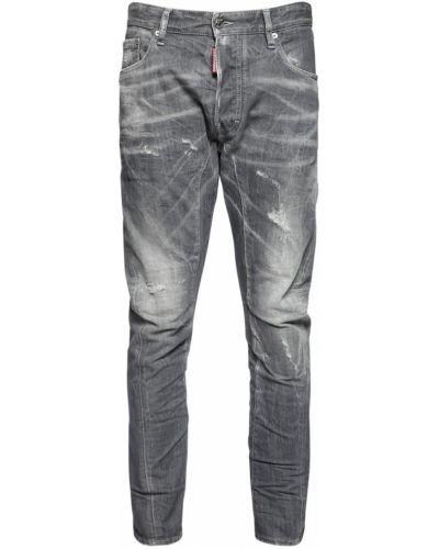 Серые джинсы байкерские на пуговицах Dsquared2