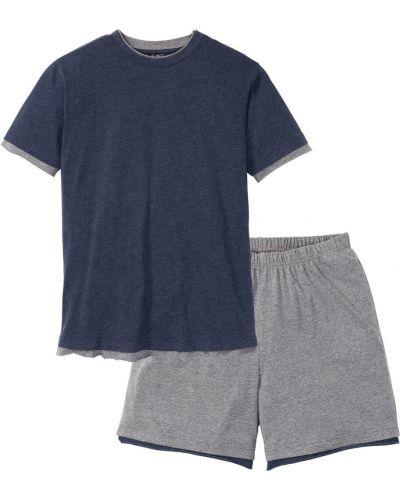 Пижама серая темно-синий Bonprix