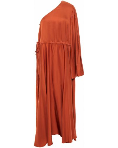Платье макси атласное - коричневое Solace London