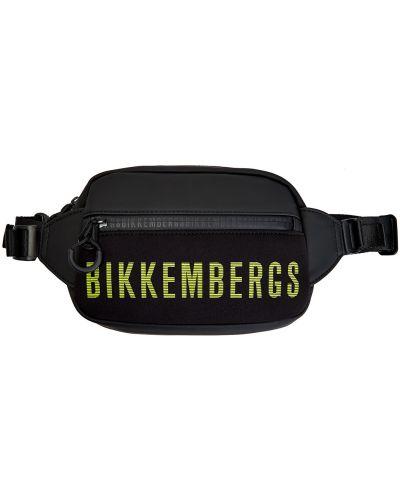Черная поясная сумка с логотипом Bikkembergs