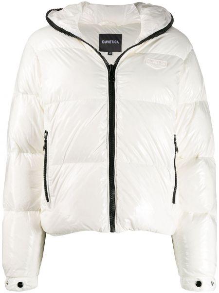 Белая короткая куртка Duvetica