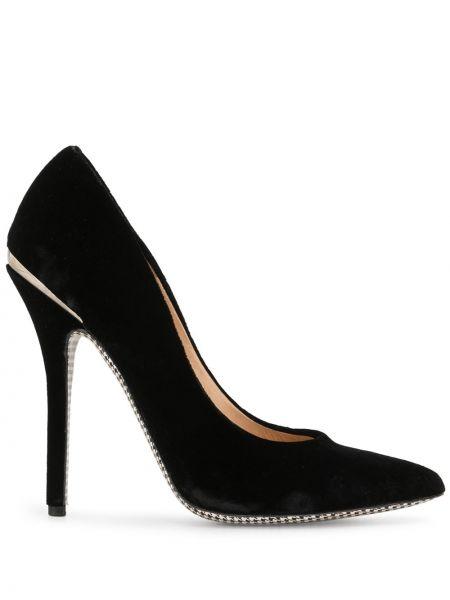 Кожаные черные туфли-лодочки на каблуке Salvatore Ferragamo Pre-owned