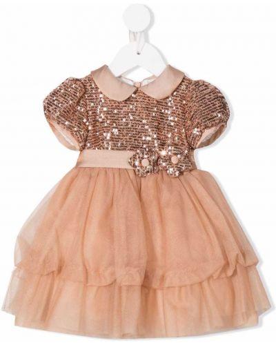 Brązowa sukienka oversize Colorichiari