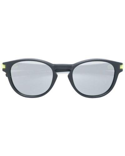 Солнцезащитные очки круглые черные Oakley