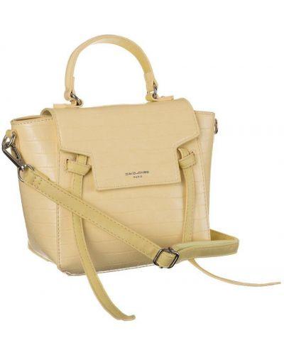 Żółta klasyczna torebka skórzana David Jones