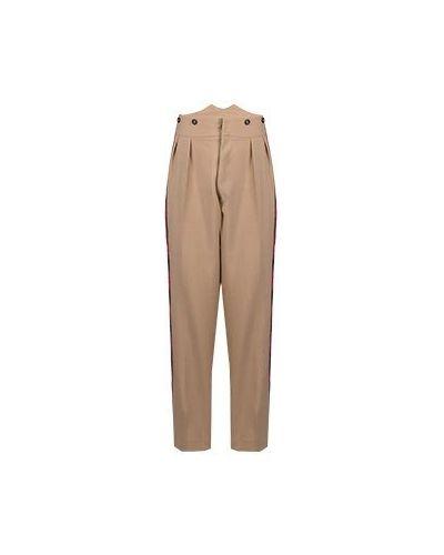 Шерстяные брюки - бежевые No.21