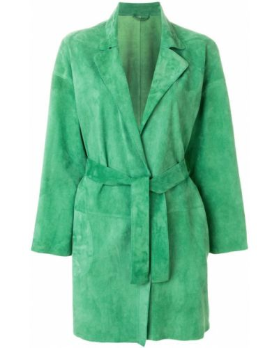Кожаное пальто - зеленое Sylvie Schimmel