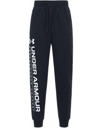 Хлопковые спортивные брюки с начесом с завязками Under Armour