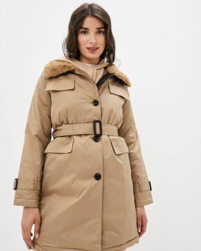 Бежевая утепленная куртка Elsi