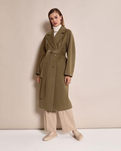 Шерстяное пальто - зеленое 12storeez