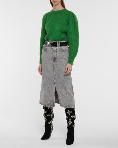 Зеленый шерстяной свитер Isabel Marant