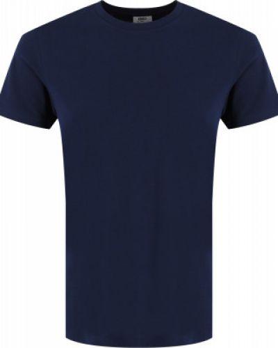 Прямая хлопковая синяя футболка Gsd