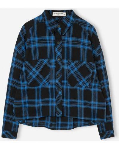 Рубашка с длинным рукавом - синяя Gloria Jeans