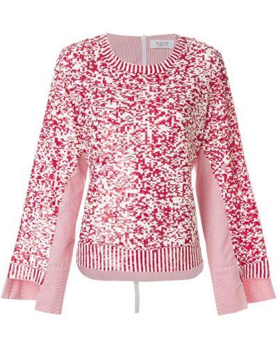 Пуловер белый красный Aviù