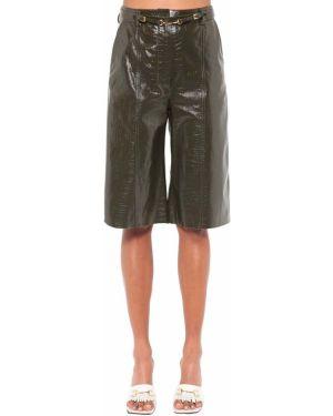 С завышенной талией кожаные шорты с карманами Dodo Bar Or
