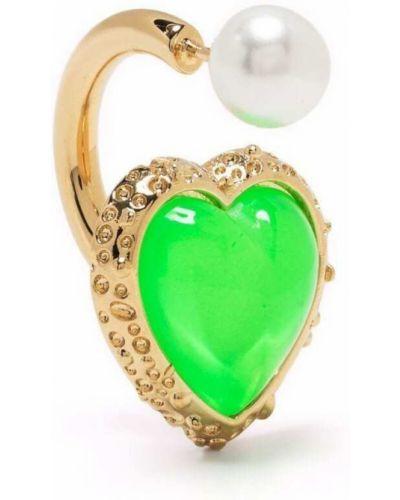Zielone kolczyki perły Saf Safu