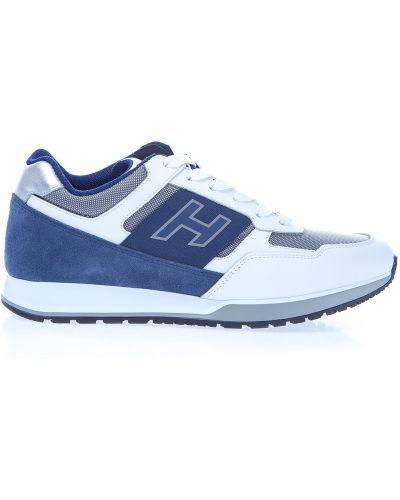 Кроссовки на шнуровке замшевые Hogan