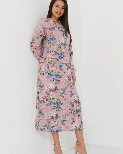 Прямое розовое платье Lmp