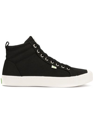 Czarne wysoki sneakersy sznurowane koronkowe Cariuma